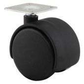 ION Mini Twin Wheel Castor - No Brake - 50mm Wheel Diameter - Pack 4)