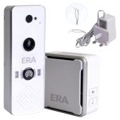 ERA DoorCam Smart Video Doorbell with Power Supply - White)