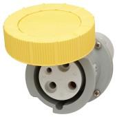 63A 3 Pin Trailing Socket - Yellow)