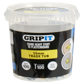 Grip It® Plasterboard Fixing - Yellow - 15mm - 100 Tub)