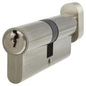 5 Pin Cylinder - Euro Thumbturn - Length 80mm - 40[k]* + 40mm - Nickel)