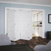 KLÜG Folding Door Kit - 3m Track for 40kg Doors - 4 Leaves in Two Directions)