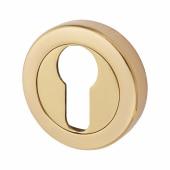 Aglio Escutcheon - Euro - Polished Brass)