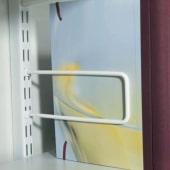 elfa® Sprung Rod Bookend - 200mm - White)