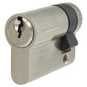 5 Pin Cylinder - Euro Single - 46mm - Nickel)