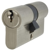 5 Pin Cylinder - Euro Double - 30 + 30mm - Nickel)