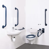Nymas NymaPRO Wall Hung Doc M pack - Exposed Fixings - Dark Blue)