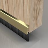 Stormguard Concealed Fixed Bottom Door Brush - 838mm - Gold)