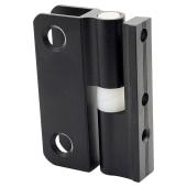 Pro Self Closing Hinge - Black Textured - 12-13mm Panels)