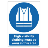 High Visibility Clothing Must Be Worn In This Area)