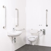Nymas NymaPRO Wall Hung Doc M pack - Concealed Fixings - Satin Stainless Steel)