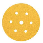 Mirka Gold Disc 7 Hole - 150mm - Grit 120 - Pack 100)