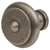 Crofts & Assinder Nottingham Iron Cabinet Knob - 20mm - Iron Lacquer)