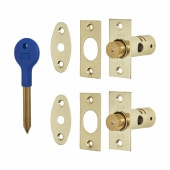 British Pattern Window Rack Bolt - Brass)