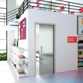 Eclisse 10mm Glass Single Pocket Door Kit - 125mm Wall - 762 x 1981mm Door Size - Right Hand)