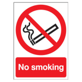 No Smoking - 210 x 148mm - Self Adhesive Vinyl)