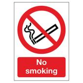 No Smoking - 210 x 148mm - Rigid Plastic)