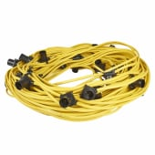 Spacing Outdoor Festoon Lights - 100m (5m spacing) - Yellow)