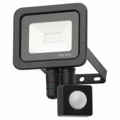 Forum Zinc Rye 10W Slimline LED Floodlight with PIR - Black)