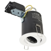 Luceco Adjustable Fire Rated Downlight - IP20 - White)