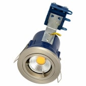 Forum Yate Fixed LED Fire Rated Downlight - Satin Chrome)