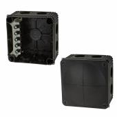 Wiska IP66 66mm Connection Box - Black)