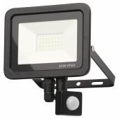 Forum Zinc Rye 20W Slimline LED Floodlight with PIR - Black)