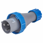 Lewden 63A 3 Pin and Earth Plug - Blue)