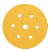 Mirka Gold Disc 7 Hole - 150mm - Grit 80 - Pack 100)