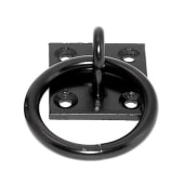 Ring on Plate - 8mm - Black)