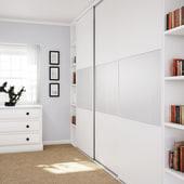 KLÜG Straight Sliding Cabinet Fittings Pack for 1 x 50kg Door)