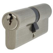 5 Pin Cylinder - Euro Double - 40 + 40mm - Nickel)