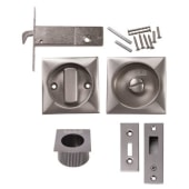KLÜG Square Flush Privacy Set with Bolt - Satin Nickel)