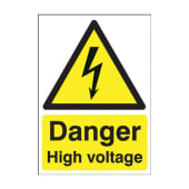 Danger High Voltage - 420 x 297mm)