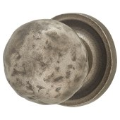 FingerTip Design Hammered Pattern Cabinet Knob - 32mm - Pewter Effect)