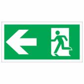 Running Man Left - 150 x 300mm - Rigid Plastic)