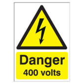 Danger 400 Volts - 210 x 148mm)