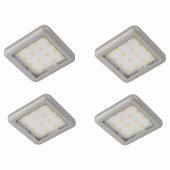 Sensio Largo LED Plinth Lights - Square - Warm White - Includes Driver - Pack 4)