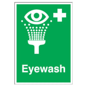 Eyewash - 210 x 148mm - Rigid Plastic)