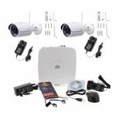 Burg Wachter BURGcam - 2 Wi-Fi Bullet Camera CCTV Kit - 1TB)