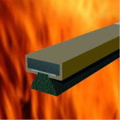 Fire & Smoke Intumescent Strip - 20 x 4 x 2100mm with Brush Pile - Brown - Pack 35)