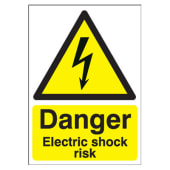 Danger Electric Shock Risk - 420 x 297mm)
