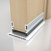 Norsound 855 Door Bottom Seal - 1500mm - Satin Anodised Aluminium)