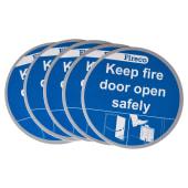Dorgard Fire Door Stickers - Pack 5)