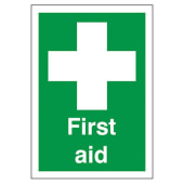 First Aid - 210 x 148mm - Rigid Plastic)