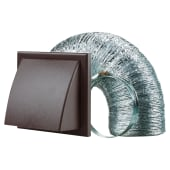 Blauberg Cooker Hood Duct Cowled Vent Kit Fan Extract - 150mm - Brown)