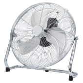 18 Inch Metal Floor Fan - Chrome)