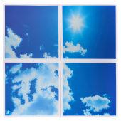 ENER-J 40W 2D Sky Cloud LED Panel 600 x 600mm - Pack 4)