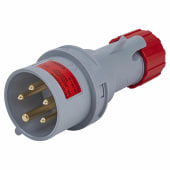 Lewden 16A 4 Pin and Earth Plug - Red )