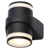 Stanley Cylindrical Up/Down LED Wall Light - Black)